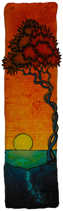 "GC Myers ""Forever Bond"" 8x2 acrylic/paper SOLD"