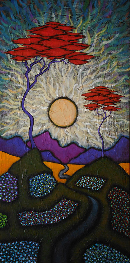 "GC Myers ""Guided By Beauty"" 24x12 acrylic/canvas SOLD"