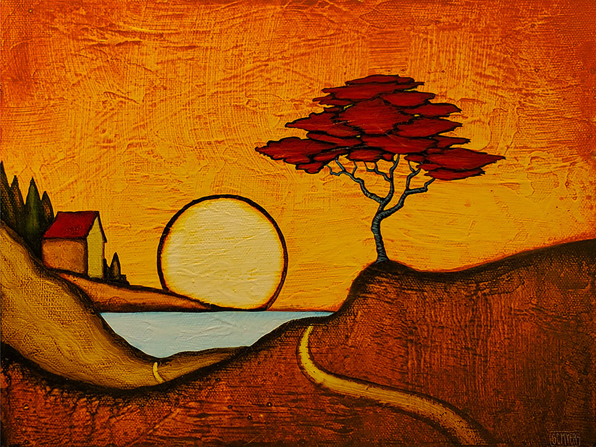 """GC Myers """"In the Beginning"""" 9x12 acrylic/canvas SOLD"""
