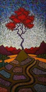 """GC Myers """"La Belle Vie"""" 36x18 acrylic/canvas SOLD"""