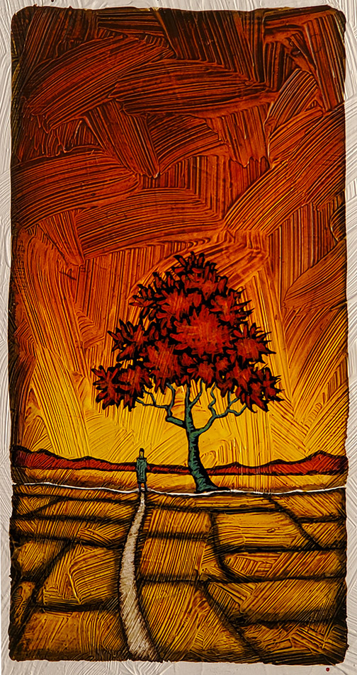 """GC Myers """"Lay My Burden Down"""" 8x4 acrylic/paper SOLD"""