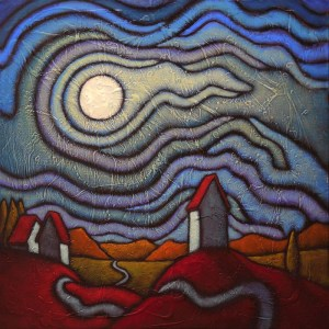 "GC Myers ""Night Comes On"" 20x20 acrylic/canvas $ Inquire"