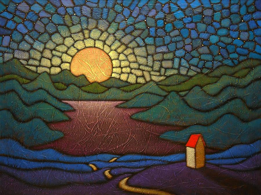 "GC Myers ""Night Nirvana"" 30x40 acrylic/canvas SOLD"
