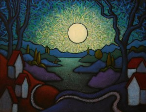 """GC Myers """"Pax Nocturna"""" 22x28 acrylic/canvas SOLD"""