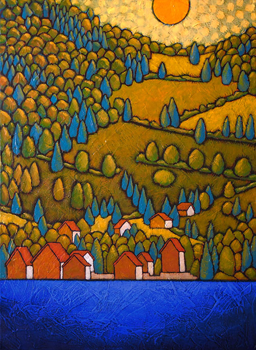 "GC Myers ""Peaceful Abode"" 18x24 acrylic/canvas SOLD"