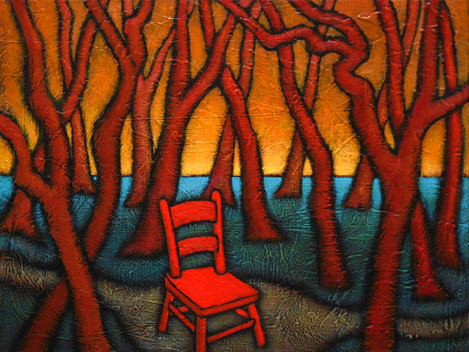 "GC Myers ""Rest Stop"" 12x16 acrylic/canvas $ Inquire"