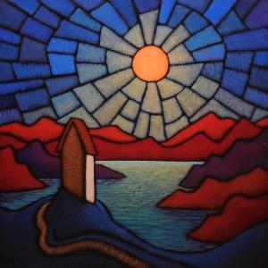 "GC Myers ""Shrine of Night"" 24x24 acrylic/canvas $ Inquire"