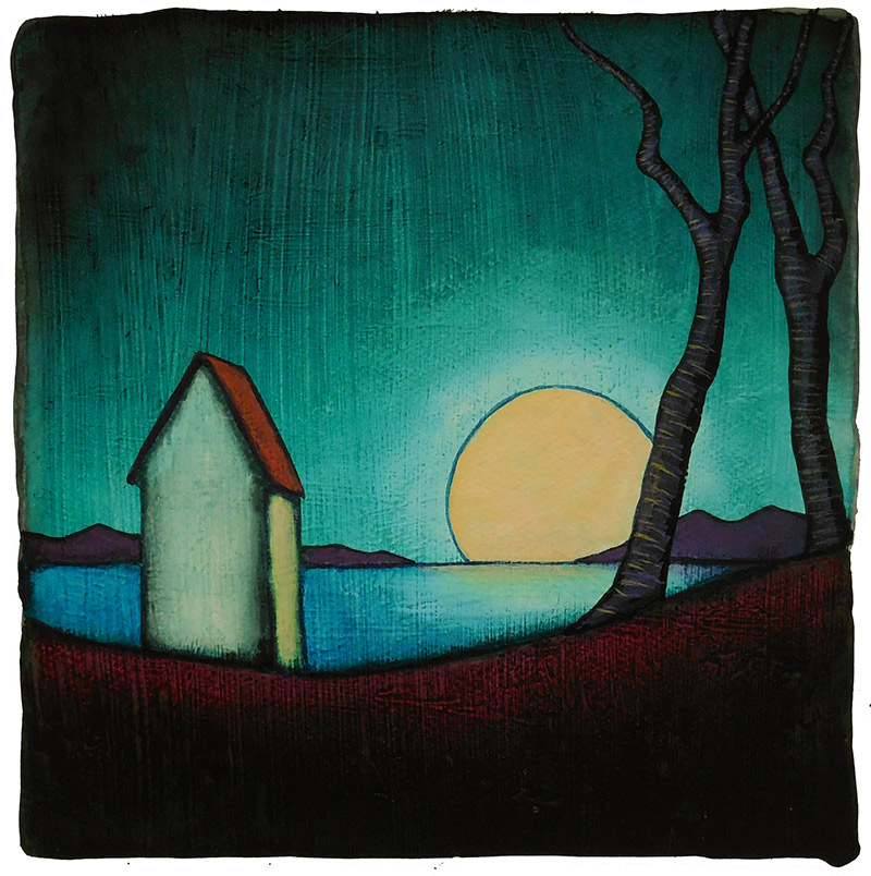 "GC Myers ""Solemn Light"" 10x10 acrylic/paper SOLD"
