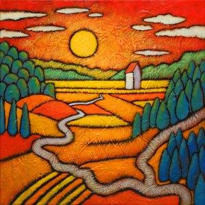 "GC Myers ""To Elysium"" 12x12 acrylic/canvas SOLD"