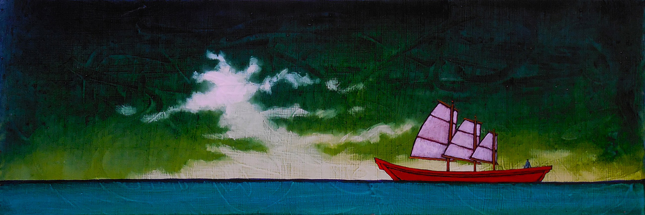 "GC Myers ""To the Far Reaches"" 8x24 acrylic/canvas $ Inquire SOLD"