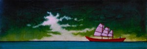 "GC Myers ""To the Far Reaches"" 8x24 acrylic/canvas $ Inquire"