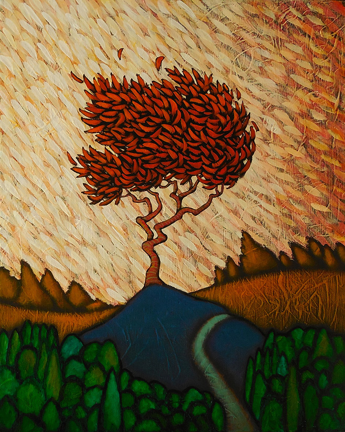 "GC Myers ""Wind Gathered"" 20x16 acrylic/canvas SOLD"