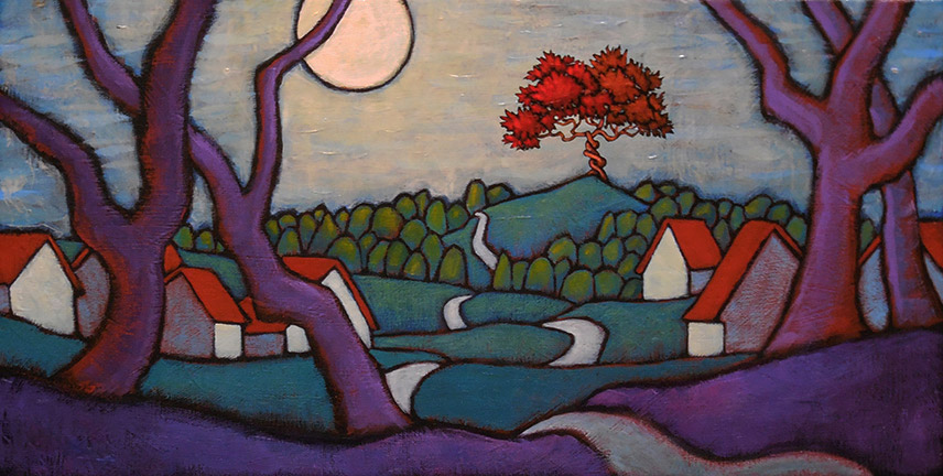 "GC Myers ""With Sanction of the Moon"" 10x20 acrylic/canvas $ Inquire"