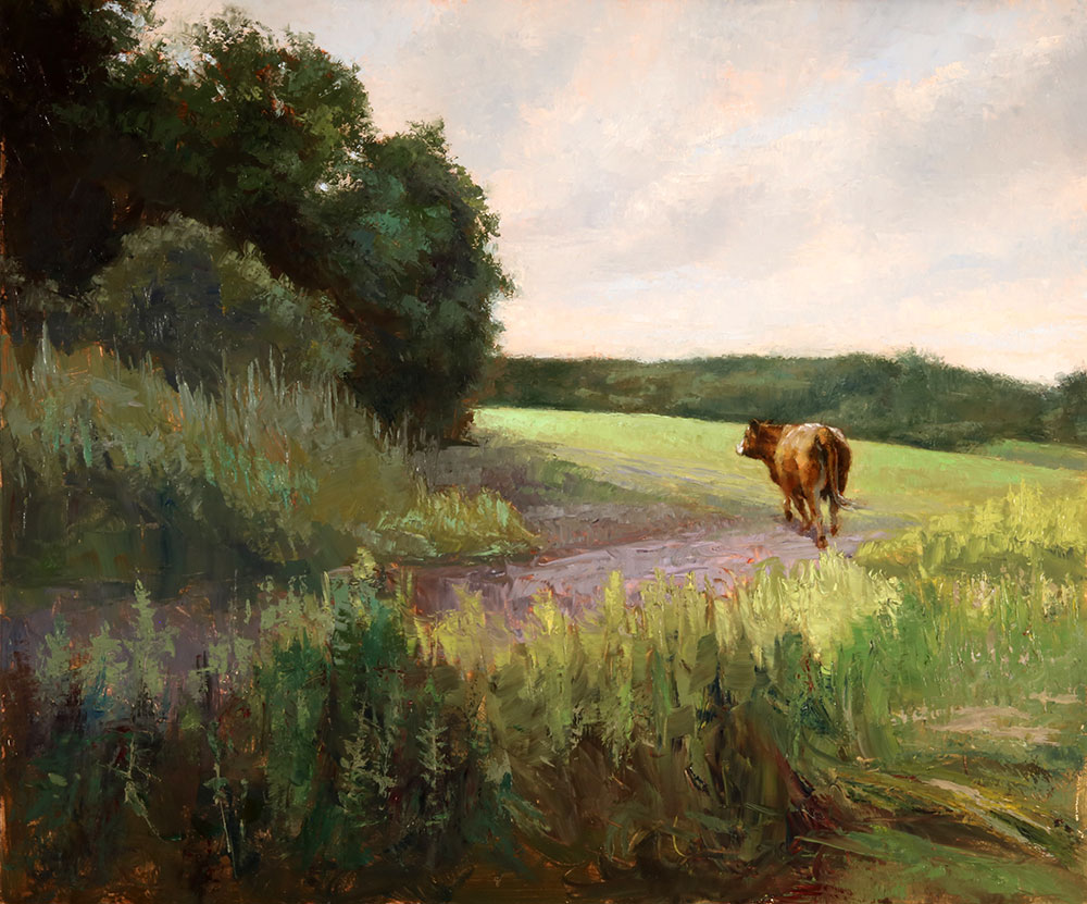 "Wilson Ong ""Greener Pasture"" 20x24 oil/board $2,250. SOLD"