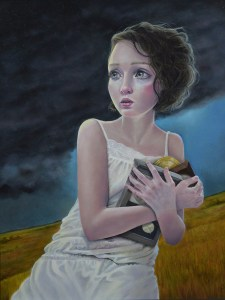 "Gina Pfleegor ""Stolen Moments"" 14x11 oil $850."