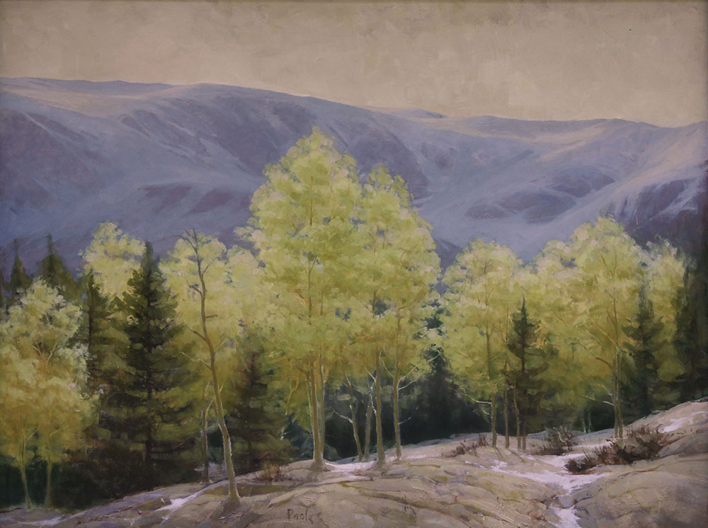 "Martin A. Poole ""Aspen"" 36x48 oil $6,100. Inquire on availability"