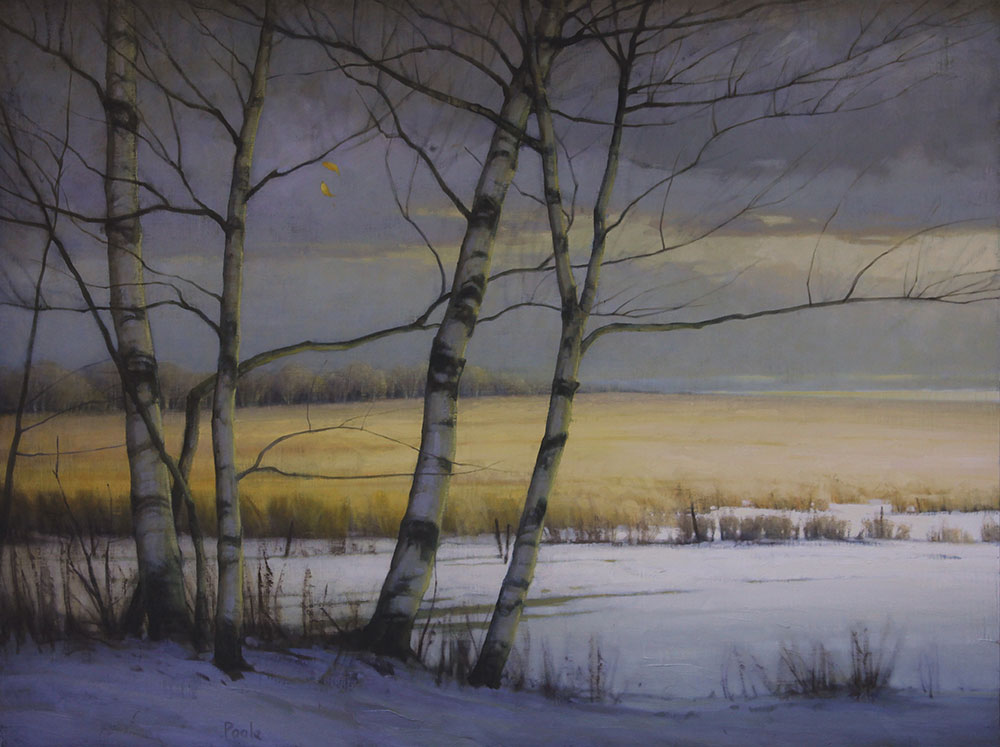 "Martin A. Poole ""Birches"" 36x48 oil $6,100."