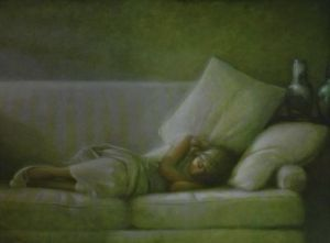 "Martin Poole ""Hope Asleep"" 36x48 oil $6,100"