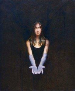 """Martin Poole """"Velvet Heart"""" 36x30 oil $4,600."""