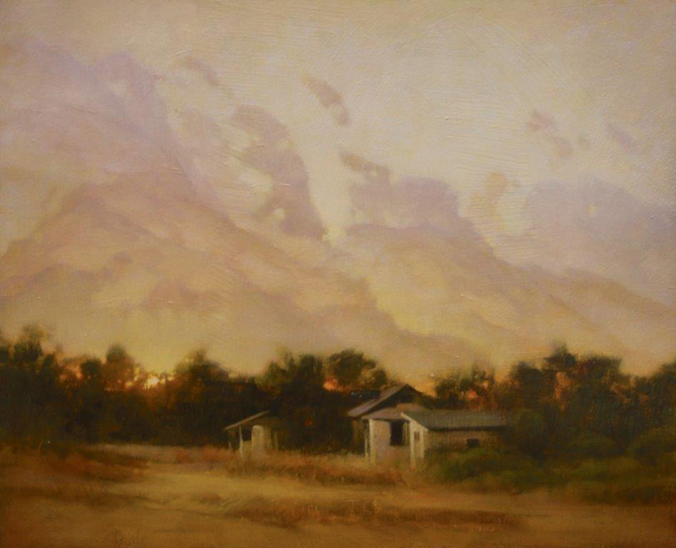 "Martin A. Poole ""Honeymoon Motel"" 18x22 oil $2,300."
