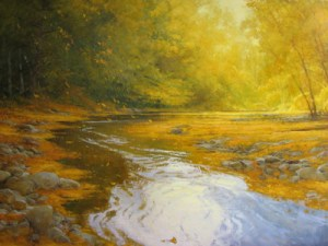 "Martin Poole ""Autumn Leaves"" Oil Painting"