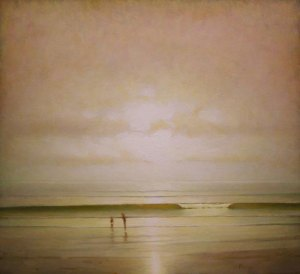 "Martin Poole ""Beach Day"" 22x24 oil $2,500."