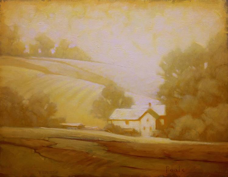 "Martin Poole ""Summer Globe - Caton Tenant House"" 14x18 oil $1,850"