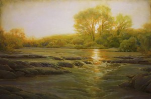 "Martin Poole ""Fairfax Creek"" 24x36 oil $3,520."