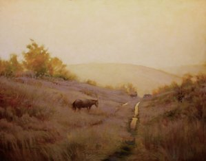 """Martin Poole """"Frosted Morning"""" 24x30 oil $3,200."""