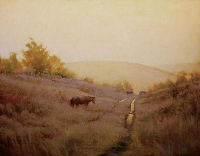 "Martin Poole ""Frosted Morning"" 24x30 oil $3,200."