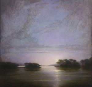 "Martin Poole ""Summer Moon"" 24x24 oil $2,640."