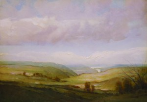 "Martin Poole ""Valley View - Chemung Valley"" 14x18 $2,090."
