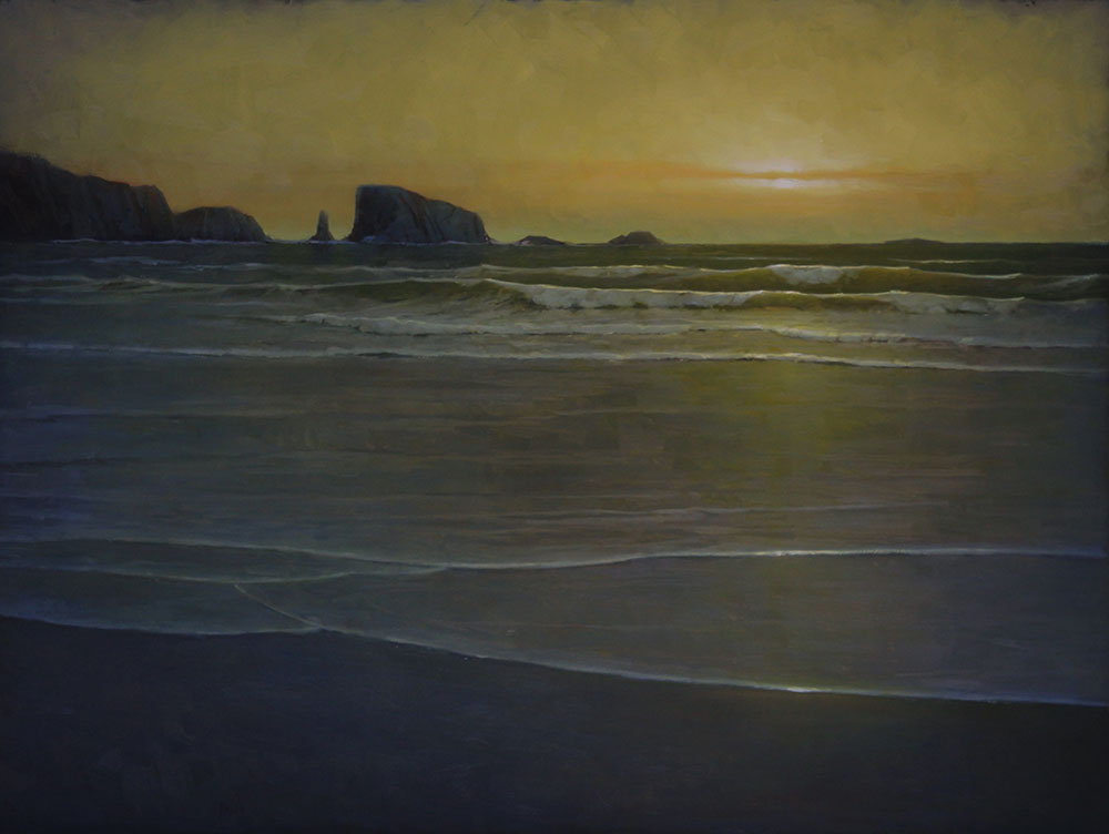 "Martin A. Poole ""Liquid Gold"" 36x48 oil $6,100."