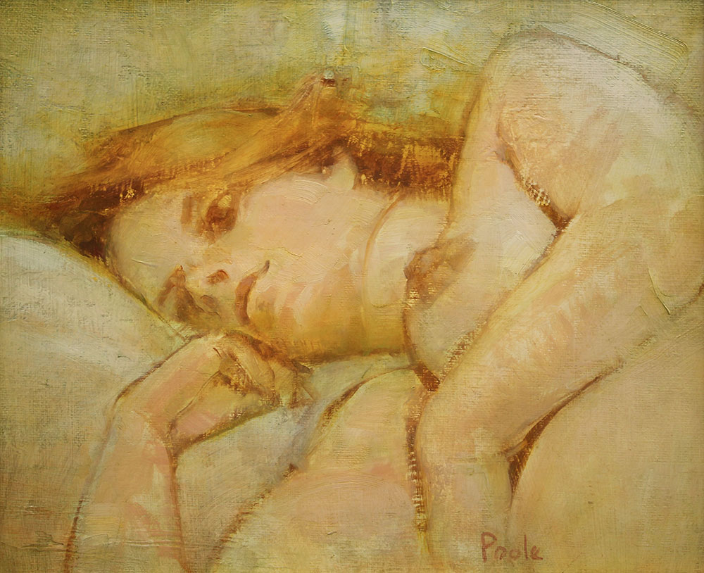 """Martin A. Poole """"Lost in Thought"""" 10x12 oil $1,500."""