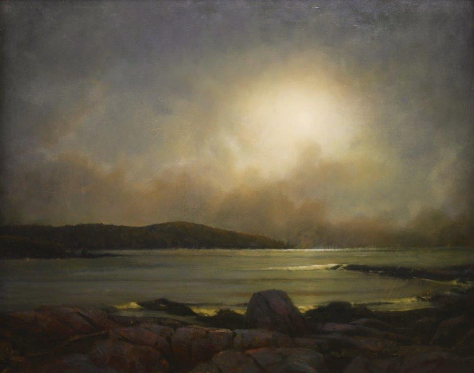 "Martin A. Poole ""Nocturne"" 24x30 oil $3,200."