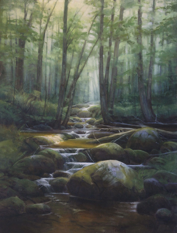 "Martin A. Poole ""Otter Creek"" 24x18 oil $2,360. SOLD"