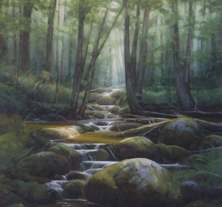 "Martin A. Poole ""Otter Creek"" 24x18 oil $2,360."