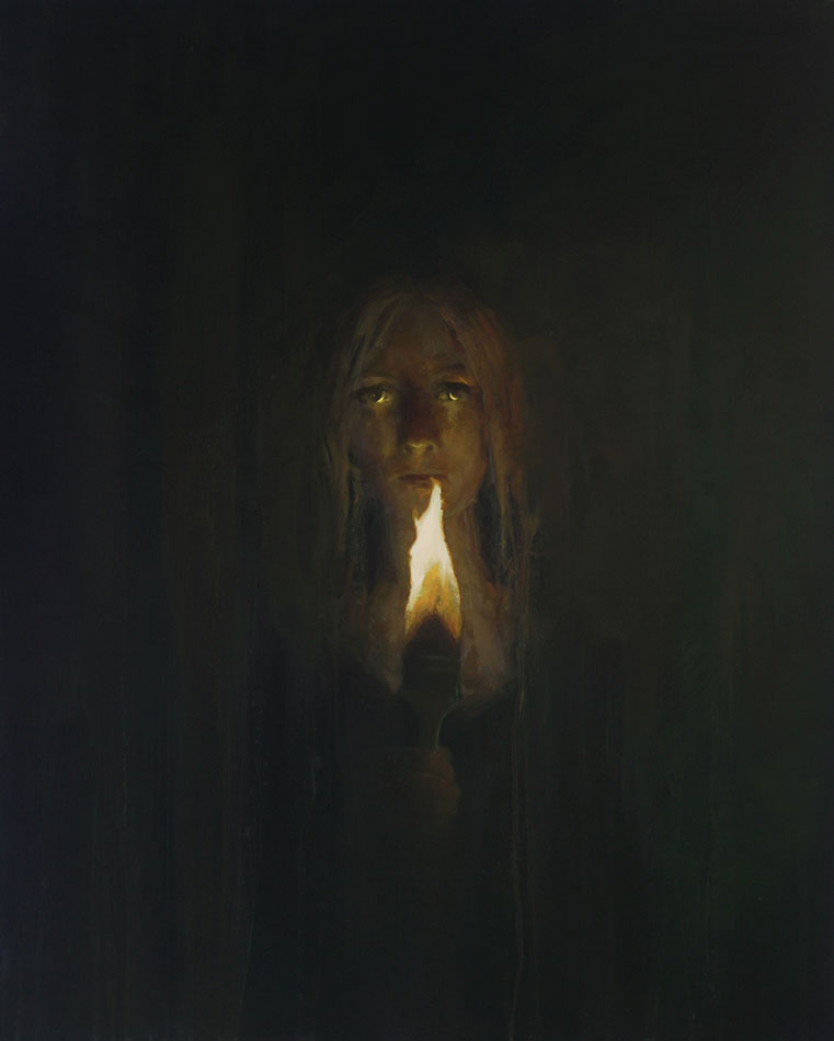 "Martin A. Poole ""Shine a Light"" 30x24 oil $3,200."