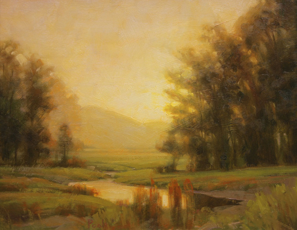 """Martin A. Poole """"Spring Morning"""" 12x15 oil $1,650."""