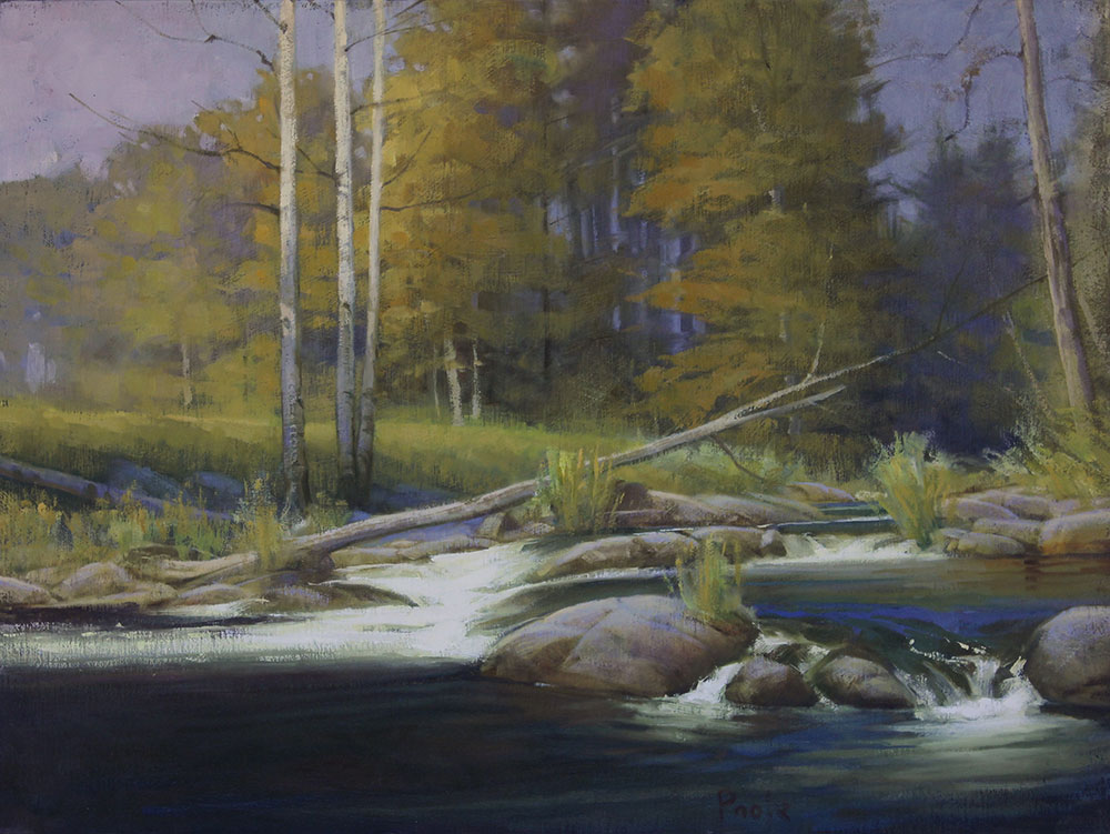 "Martin A. Poole ""White Salmon River"" 18x24 oil $2,360."