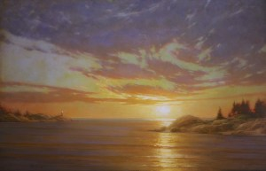 "Martin A. Poole ""Wide Sky"" 23x36 oil $3,300. Unframed (Inquire)"