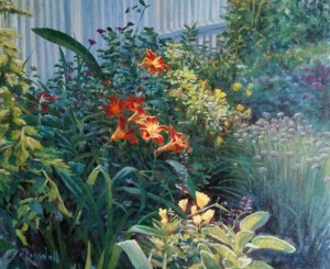 "James Ramsdell ""Day Lilies"" 20x24 oil $1,500."