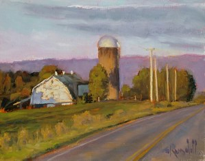 """James Ramsdell """"Late Day Shadows"""" 9x12 oil $700."""