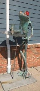 "Jay Seaman ""Drinking Frog"" mixed media sculpture $ Inquire"