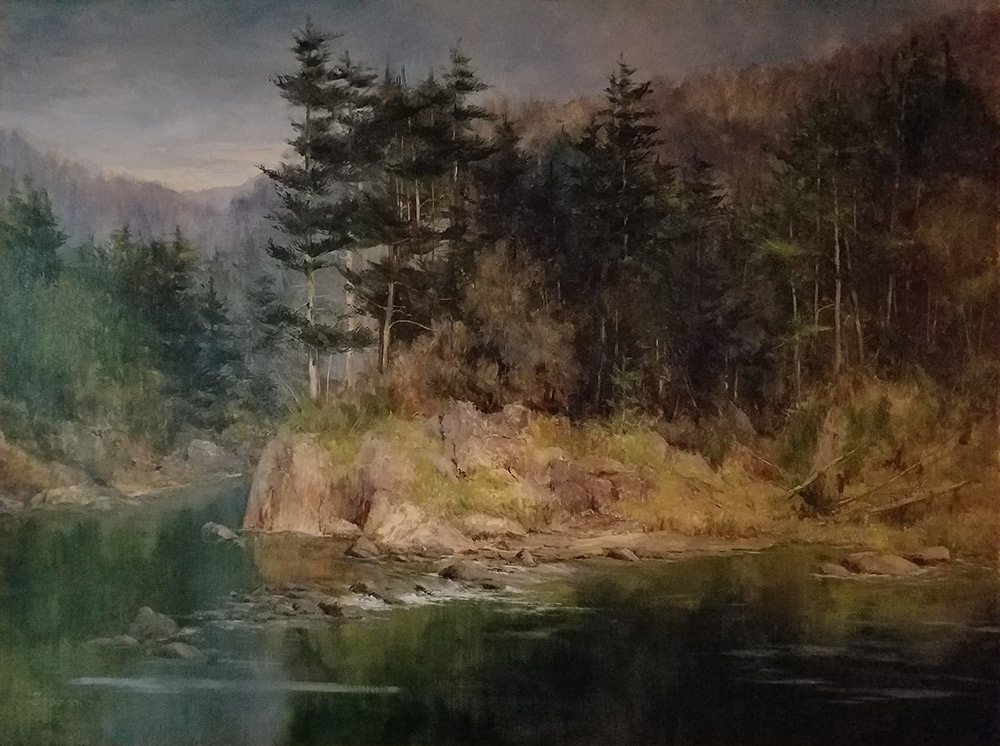 "Judy Soprano ""Along the Black River"" 24x30 oil $1,400."