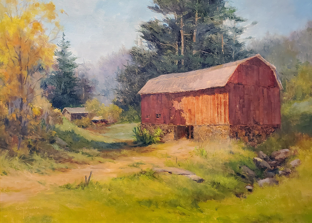 "Judy Soprano ""Autumn is Coming"" 18x24 oil $900."