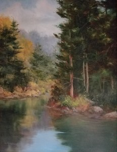 "Judy Soprano ""Early Autumn"" 24x18 oil $900."