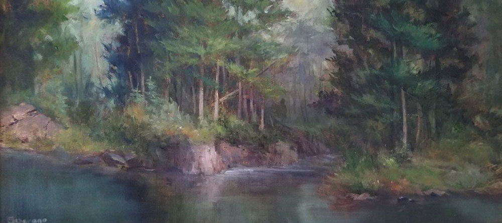 "Judy Soprano ""On the Mad River"" 8x16 oil $450."