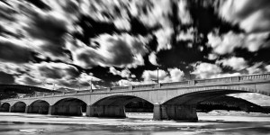 """Chris Walters """"Centerway Bridge in Winter"""" inquire for available order"""