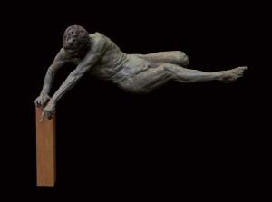 "Gary Weisman ""Demi God - Portrait of a Virus"" 20.5""h x 18""w x 9.5""d bronze $7,000. Inquire on availability"